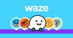 Application Waze trajet en voiture