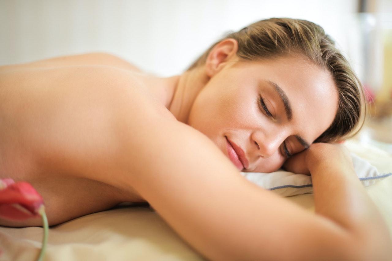 Moment détente durant un massage