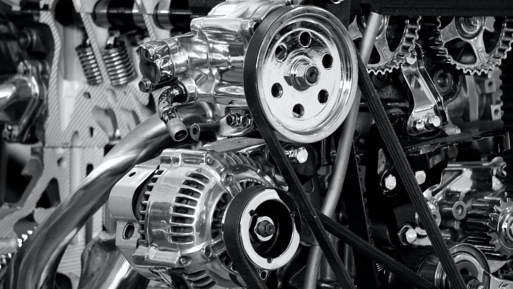 Intérieur de voiture, moteur
